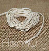 Фитиль плетеный косичка, хлопок, толщина 2 мм