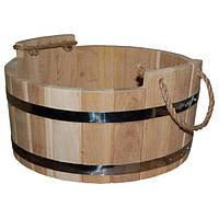 Шайка для бани дубовая (18 л, 40*23 см)