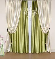 Шторный набор Шанзелизе  №2 (4 шторы+ 2 пары подхватов), фото 2