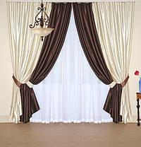 Шторный набор Шанзелизе  №3 (4 шторы+ 2 пары подхватов), фото 2