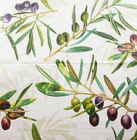 """Салфетка декупажная 33x33см 13 """"Оливки и маслины на ветке"""""""