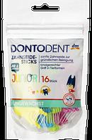 DONTODENT Zahnseide-Sticks Junior, 16 St - Зубная нить с держателем для детей от 6 лет, 16 шт.