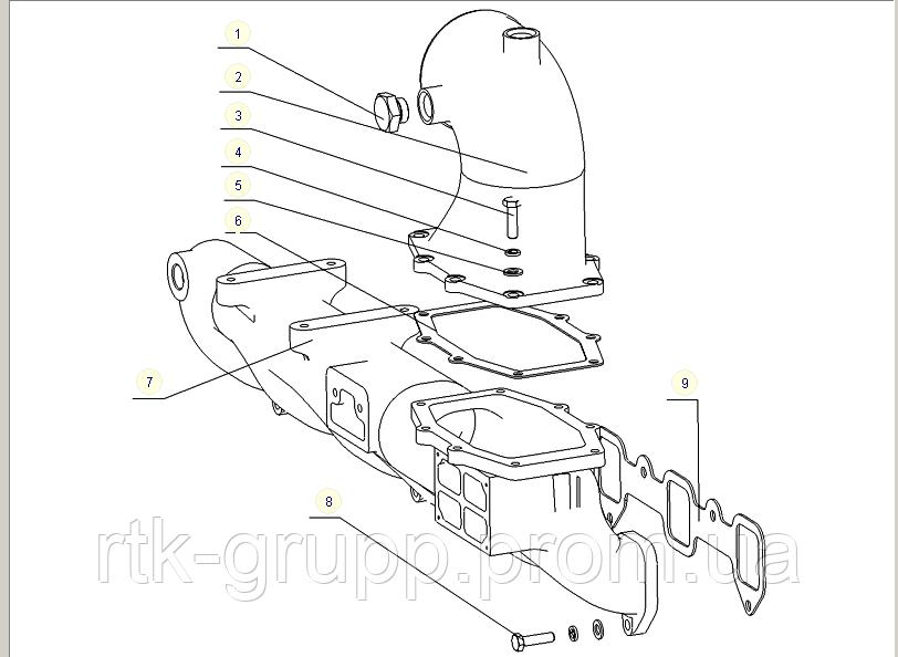 КАТАЛОГ Воздушный коллектор впускной YG6108