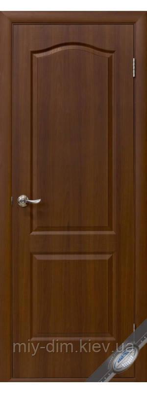 Двері Фортіс А МДФ/ПВХ Класік глухі 80 горіх