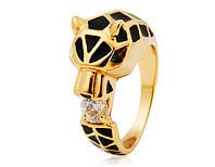 Кольцо «Хищный взгляд» с покрытием золотом, купить в Украине