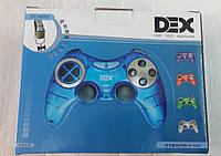 Проводной джойстик на компьютер Dex PC-892S, цифровые/аналоговые кнопки, вибро, USB 2.0, разные цвета