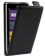 Кожаный чехол флип для  Nokia Lumia 520 черный