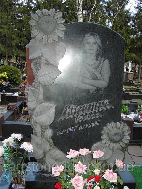 Памятник из гранита Подсолнухи
