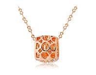 Кулон «Апельсиновый сюрприз» с кристаллами Сваровски и позолотой, купить