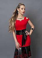 Элегантное женское платье красного цвета 247-1