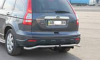 Защитный обвес на задний бампер Honda CR-V (2006+)