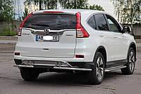 Защитный обвес на задний бампер Honda CR-V (2015+)
