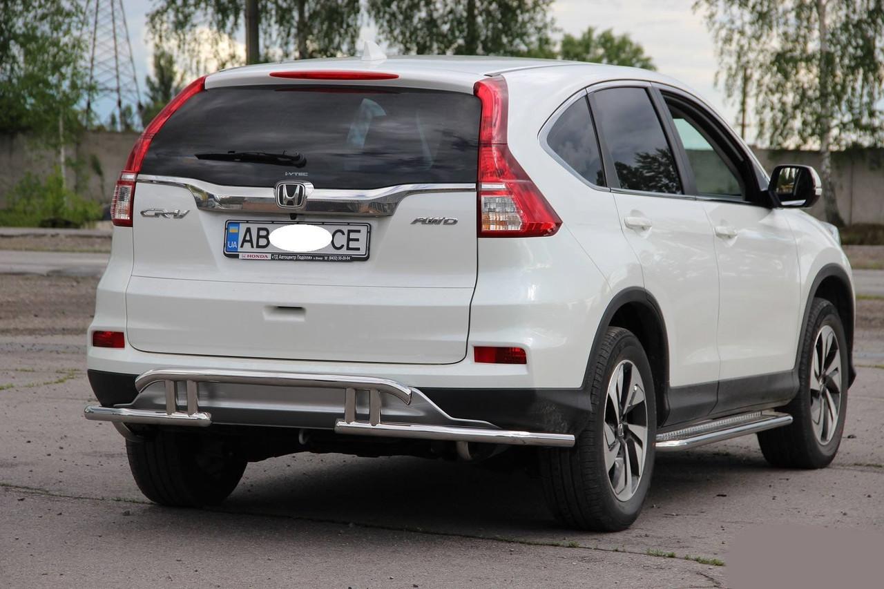 """Защитный обвес на задний бампер Honda CR-V (2015+) - """"Auto Go"""" в Мелитополе"""