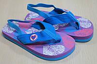 Детские вьетнамки на девочку, пляжная детская обувь тм Super Gear р.22,26