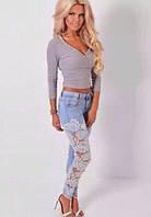 Летние оригинальные женские джинсы