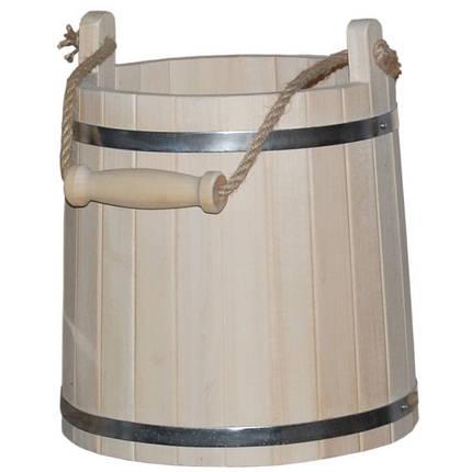 Ведро для бани широкое, липа (10 л), фото 2
