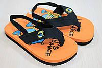 Детские вьетнамки на мальчика пляжная обувь тм Super Gear р.22,24,25