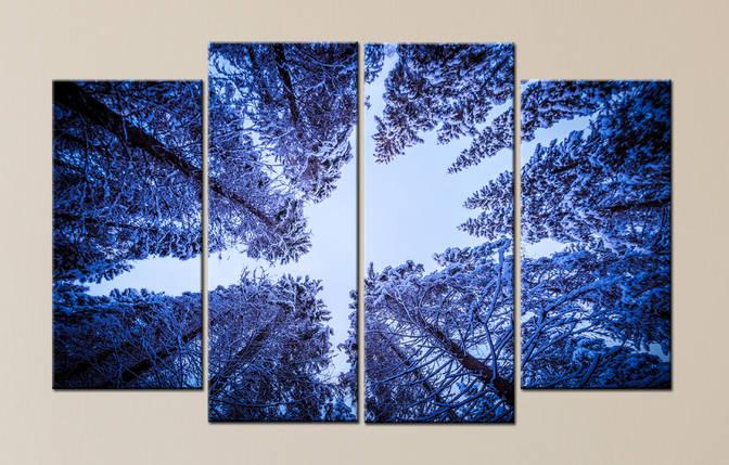 """Модульная картина """"Зимний лес"""", фото 2"""