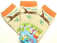 Носки бежевого цвета летние для маленьких с динозаврами