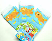 Носки для маленьких голубого цвета летние с динозаврами