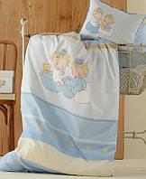 Детское постельное белье в кроватку   KARACA HOME MINI голубой