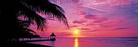 Фотообои на стену ямайский курорт Монтего-Бей размер 127 х 366 см