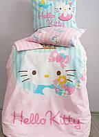 Детское постельное белье в кроватку   KARACA HOME HELLO KITTY SOFT РОЗОВЫЙ