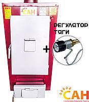 Котел на твердом топливе САН-ТЕРМО-М мощностью 15 кВт с механическим регулятором тяги