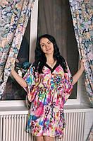 Штапельное женское платье - кимоно, фото 1