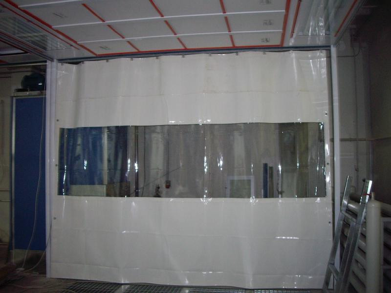 Штора ПВХ с прозрачкой на мойку