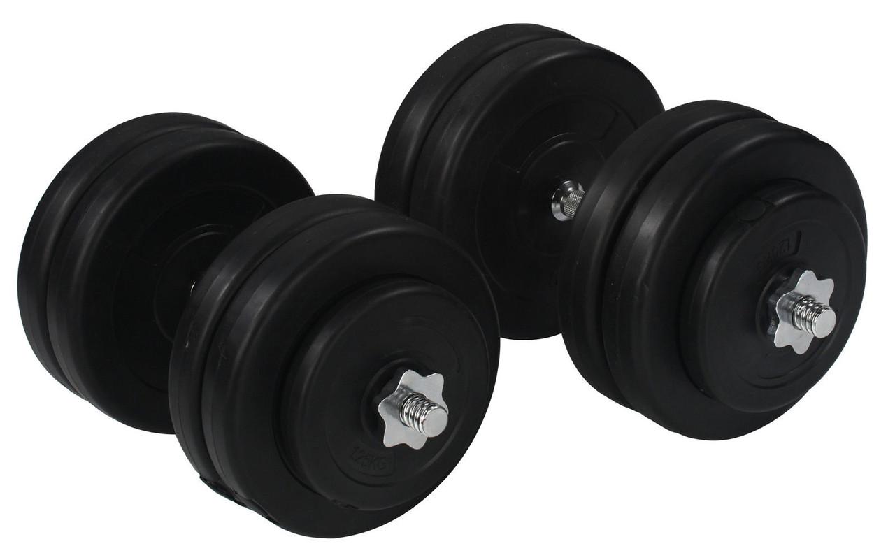 Гантели 2х23 кг (Металлический Гриф)