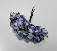 Цветок Роза бумажная сиреневая