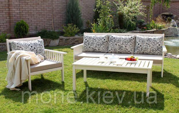 Садовая мебель диван, кресло, стол из массива ясень