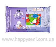 Влажные салфетки HAPPY с витамином Е 24шт.