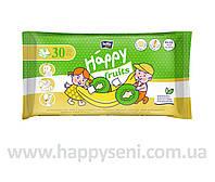 Влажные салфетки HAPPY Fruits с ароматом киви и банана 30шт.