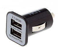 Зарядное устройство Ivon 2 usb, 3.1A чёрное, фото 1