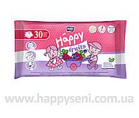 Влажные салфетки HAPPY Fruits с ароматом черники и клубники 30шт.