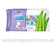 Влажные салфетки HAPPY Sensitive 56шт.