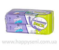 Влажные салфетки HAPPY Sensetive 56x2шт.