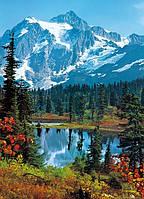 Фотообои  на стену  Утренний рассвет с видом на горы размер 183 х 154 см