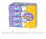 Влажные салфетки HAPPY Sensetive 56x4шт.