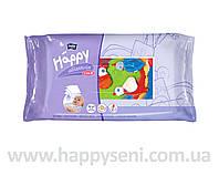 Влажные салфетки HAPPY с витамином Е 64шт.