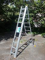 Лестница-стремянка 3х10 КРОК, алюминиевая, фото 3