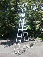 Лестница-стремянка 3х10 КРОК, алюминиевая, фото 2
