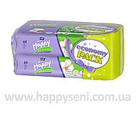 Влажные салфетки HAPPY Silk&Cotton 64x2шт.