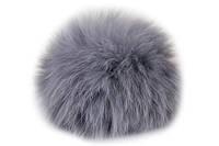Бубон из натурального меха кролика (серый)