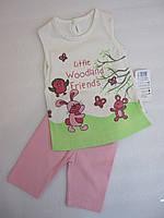 Комплект для девочек: футболка и бриджи