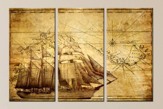 "Модульная картина ""Старая карта"", фото 2"