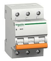 Автоматический выключатель SCHNEIDER ВА63 3P 16A C, 11223