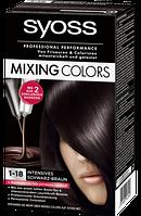 Syoss Coloration 1-18 Intensives Schwarz-Braun - Краска для волос Цвет 1-18 черно-коричневый, 1 шт.